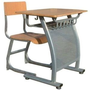 COMPLETE METAL CLASS ROOM TABLE AND CHAIR